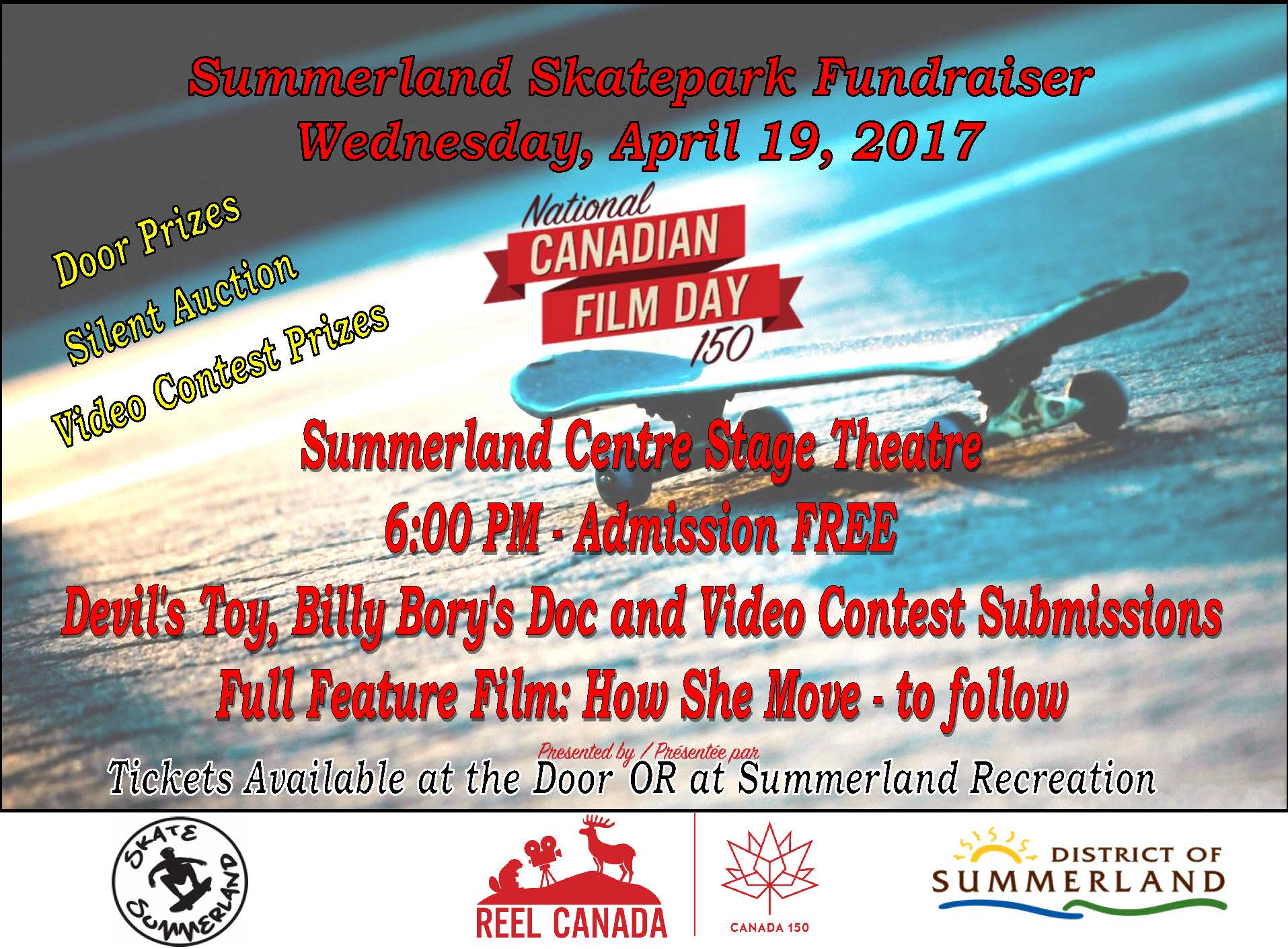 National Canadian Film Day Fundraiser April 19, 2017