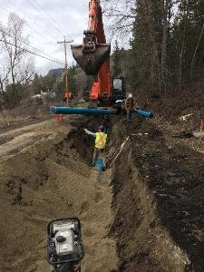 Installation of 300mm irrigation main near 17808 Garnet Valley Road
