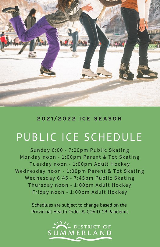 summerland arena 2021 2022 public skating schedule